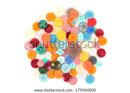 buttons of different colors and types