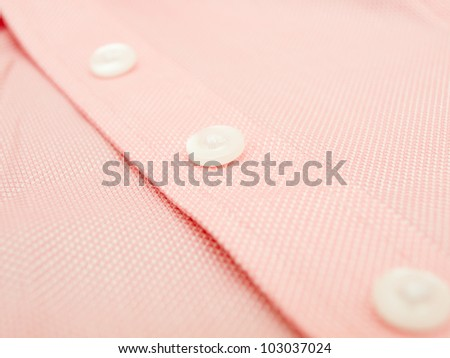 Buttons on a finest quality shirt - close up - stock photo