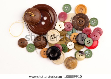 Buttons on a white background - stock photo