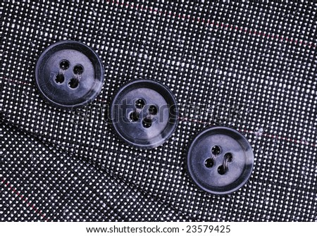 buttons on the business suit - stock photo