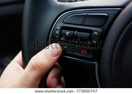 Buttons on the steering wheel to accept or reject calls from the phone.