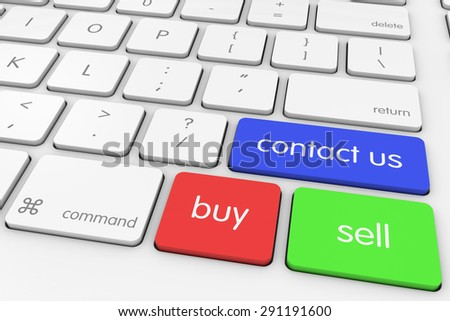 Buy and Sell 'Contact Us' Computer Keys on White Keyboard