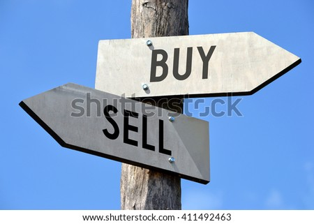 Buy and sell signpost