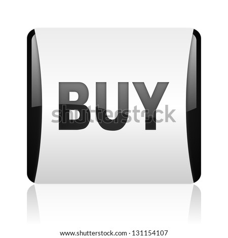 buy black and white square web glossy icon