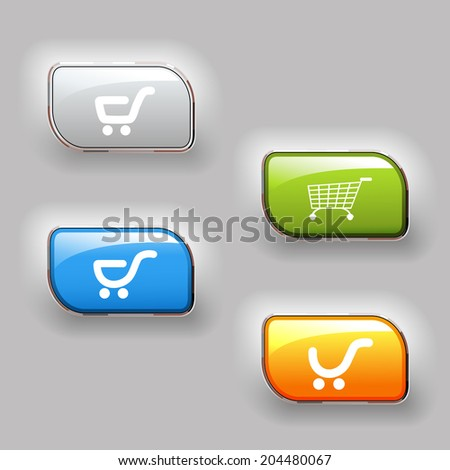 buy buttons, shopping cart items, shopping trolley