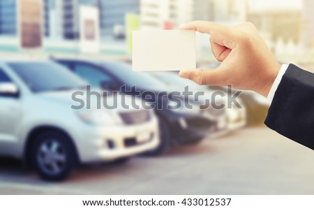 buy car with credit card concept background