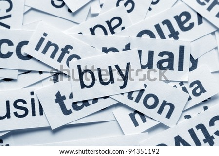 Buy  concept - stock photo
