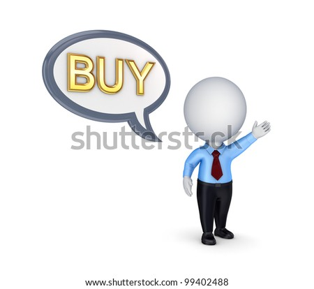 BUY concept.Isolated on white background.3d rendered. - stock photo