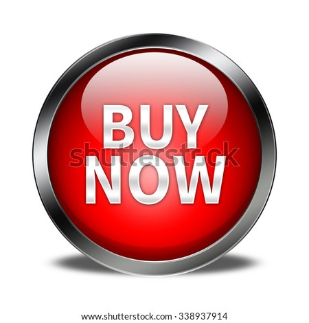 buy now button isolated  - stock photo