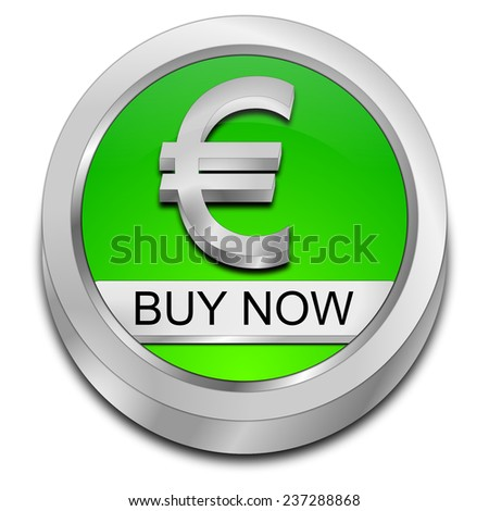 Buy now Button with Euro symbol - stock photo