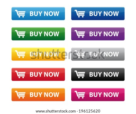 Buy now buttons. Vector available. - stock photo