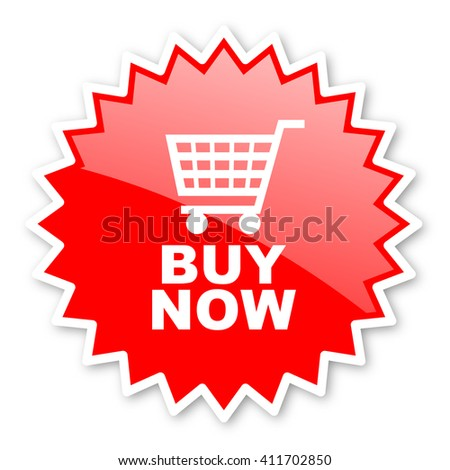 buy now red tag, sticker, label, star, stamp, banner, advertising, badge, emblem, web icon - stock photo