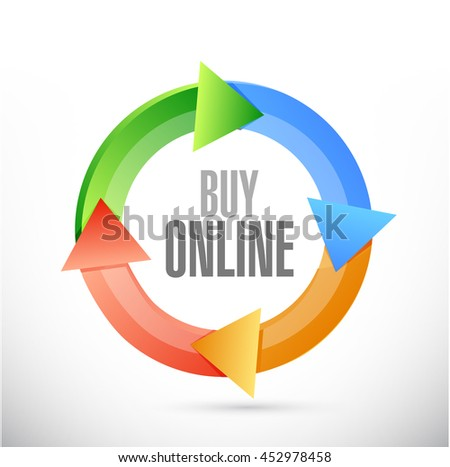 buy online cycle sign illustration design graphic - stock photo
