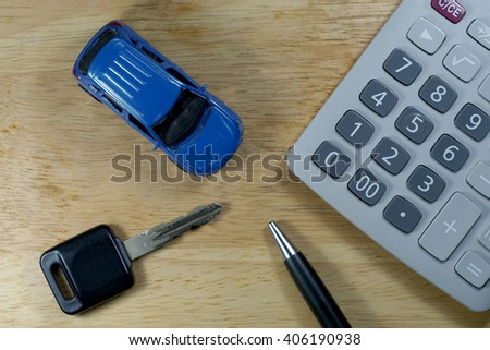 Buy Sell Rent Car for business concept. - stock photo
