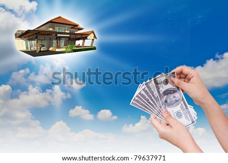 Buy the new house - stock photo