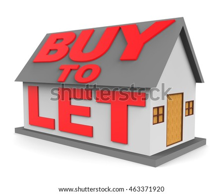 Buy To Let Meaning Real Estate And Habitation 3d Rendering