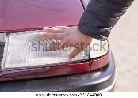 buying a new car. A dream come true - stock photo