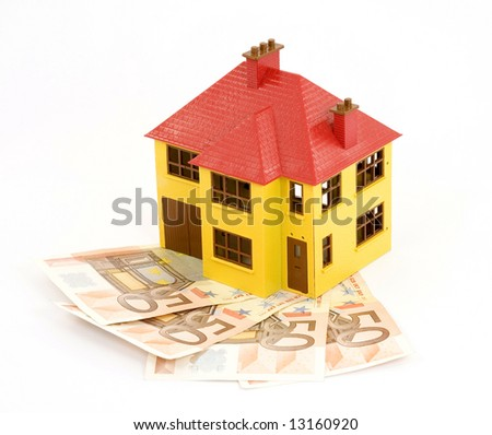 buying house concept studio isolated