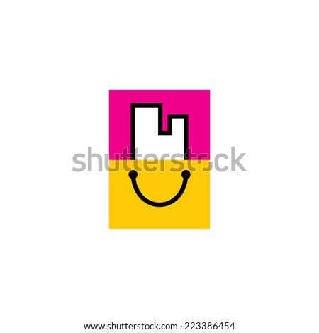 Buying Property sign Branding Identity Corporate logo design template Isolated on a white background - stock photo