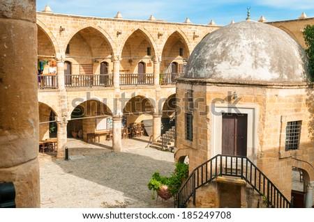 Buyuk Han (the Great Inn), largest caravansarai in Cyprus. Nicosia - stock photo