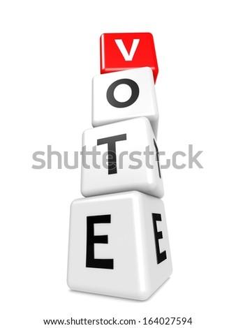 Buzzword vote - stock photo
