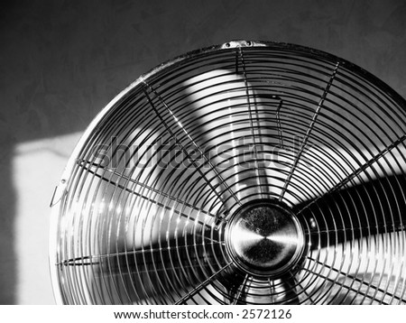 BW photo of chrome fan [3]