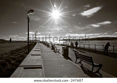 by the seaside - stock photo