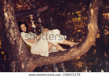 By the tree - stock photo