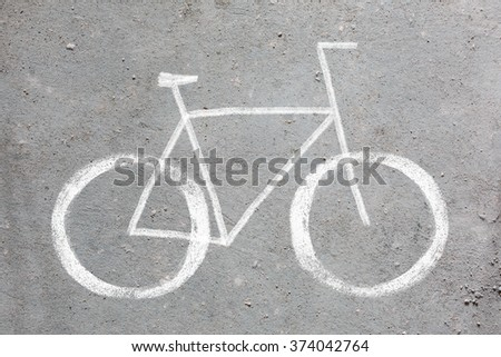 bycycle road sign - stock photo