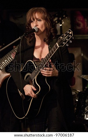BYRAM, NJ – JAN 26: Vocalist Lisa Lowell performs at Salt Gastropub on January 26, 2012 in Byram, NJ. Lowell has sung back-up vocals for Bruce Springsteen's Seeger Sessions and for Patti Scialfa.