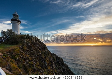 Byron Bay lighthouse at sunrise, Australia