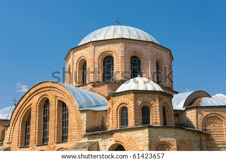 Byzantine church (1152 ad), at Feres,Greece. Replica of the famous Hagia Sofia