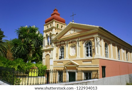 byzantine church in Corfu town, Greece