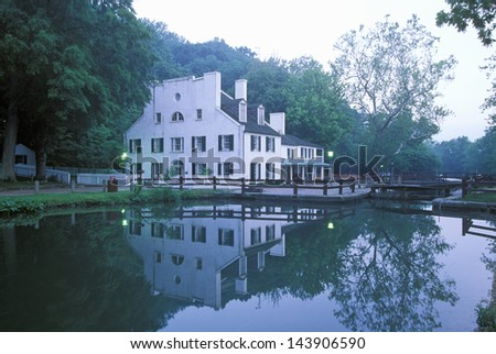 C  and O Canal, Great Falls, Maryland - stock photo