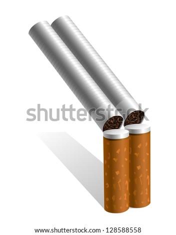 Cigarette shotgun - stock photo