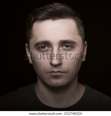 C�¡lose-up portrait of man's face
