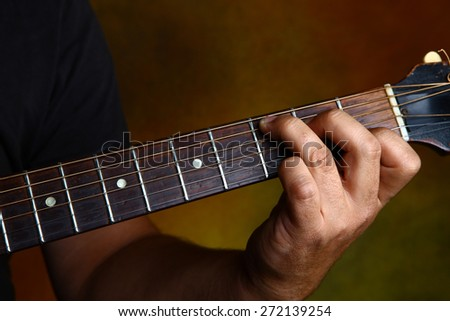 C major chord for guitar - stock photo