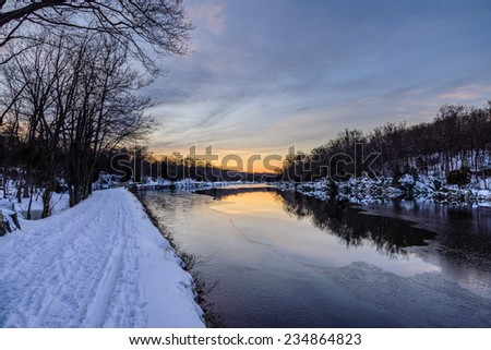 C&O Canal winter sunset