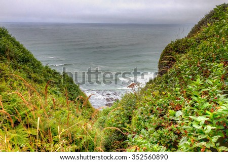 CA-Redwoods National Park-The Pacific Ocean is a spectacular sight along the coastline of Northern California.