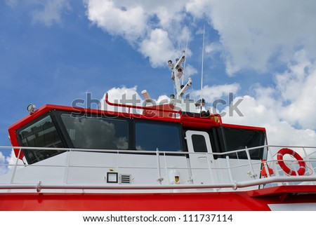 Cab new modern ship - stock photo