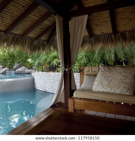 Cabana by poolside in Costa Rica