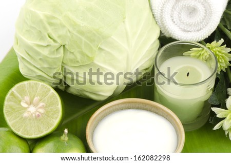 Cabbage (Brassica oleracea L. cv. Group Cabbage) healing and face exposed to the sun and wind to come back to face my skin healthy and radiant. Mixed with yogurt and lemon juice.