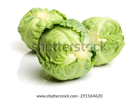 cabbage on white background - stock photo