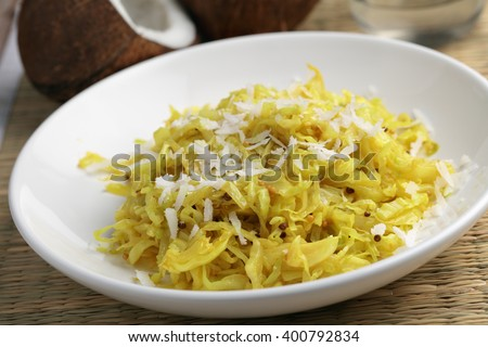Cabbage sabzi the traditional Indian dish - stock photo