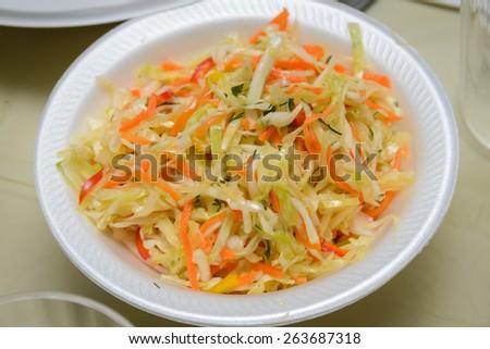Cabbage salad - stock photo