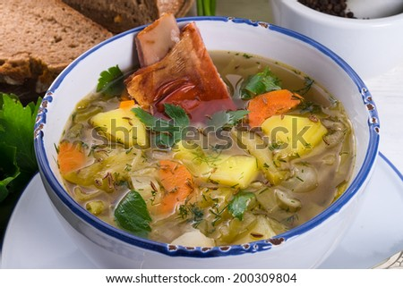 cabbage stew with meat - stock photo