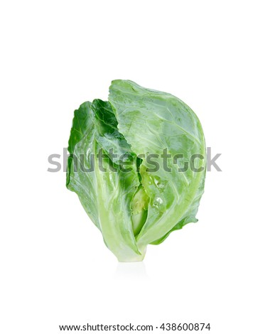 cabbages close up isolated on white background