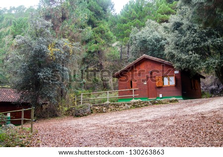 Cabin located in a forest of Spain