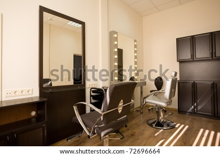 Cabinet make-up artist and hairdresser. Modern design. - stock photo