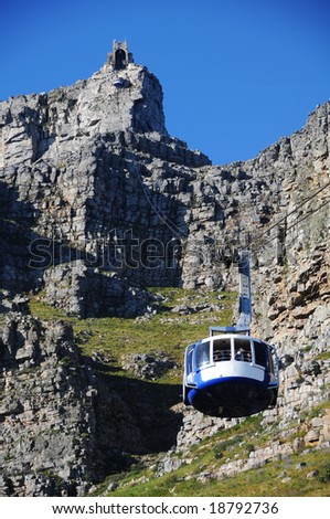 Cable Car ride up to the Table Top Mountain